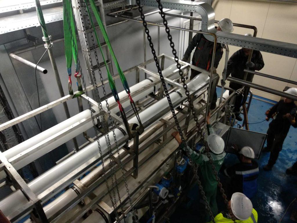Монтаж установки обратного осмоса второй степени